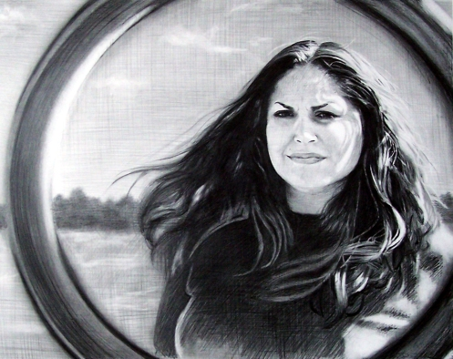"Matrimony, graphite on paper, 18"" x 24"", 2010"