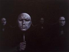 "23. Masks, oil on canvas, 30""x40"""