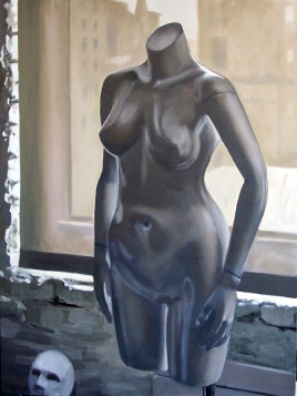 "Fashionable Dummy, 36"" x 24"", oil on canvas"