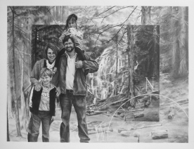 """18"""" x 24"""", graphite on paper, portrait commission"""