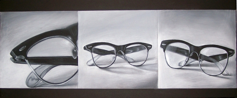 18. Observational Drawing, 9in x 24in